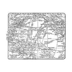 Tim Holtz Red Rubber Stamp   World Map Arts, Crafts