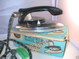 GE F49 World Wide Travel Iron Original Box Instructions