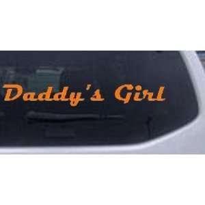 Orange 18in X 2.7in    Daddys Girl Girlie Car Window Wall Laptop Decal