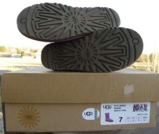 NIB UGG AUSTRALIA Womens 7 8 Classic Short Boots Pansy Purple