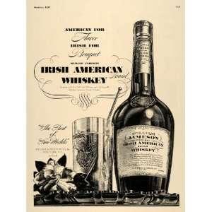 1937 Ad William Jameson Irish American Blend Whiskey