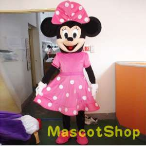 Pink Minnie Mouse fancy adult cartoon mascot costume