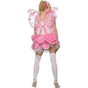 : Adult Wings Deluxe Pink Chiffon Fairy Pixie Angel: Everything Else