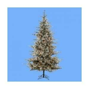 7.5 Pre Lit Frosted Rustic Pine Artificial Christmas Tree