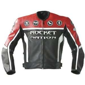 Joe Rocket Rocket Nation Mens Leather Motorcycle Jacket
