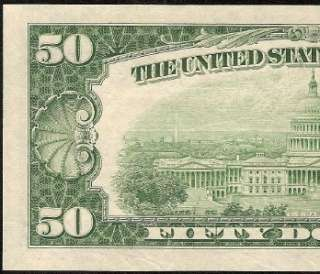 CU 1950 B $50 DOLLAR BILL PHILADELPHIA FEDERAL RESERVE GREEN SEAL NOTE