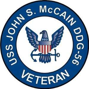 US Navy USS John S. McCain DDG 56 Ship Veteran Decal