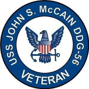 US Navy USS John S. McCain DDG 56 Ship Veteran Decal