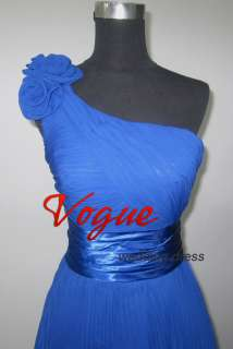 New Hot Blue Bridal Gown Wedding/Evening Prom Dress e99