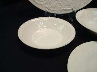 Wedgwood Patrician Pattern Dinnerware Set 48 pcs Plates Cups Bowls