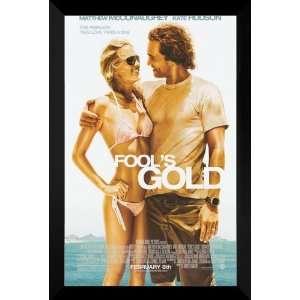 Fools Gold FRAMED 27x40 Movie Poster Kate Hudson Home & Kitchen
