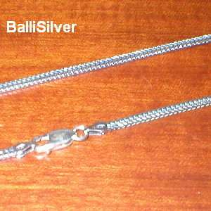 Sterling SILVER Antique Finished FOXTAIL Necklace 18