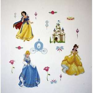 Home Decor Mural Art Wall Paper Stickers   Disney world Princess Baby