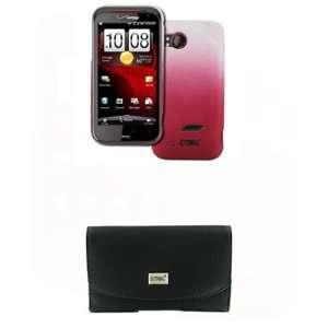 EMPIRE HTC Rezound Black Leather Case Pouch with Belt Clip
