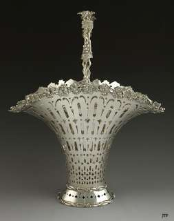 INCREDIBLE TIFFANY & CO STERLING FLOWER BASKET/PLANTER