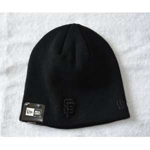 San Francisco Giants Black Tonal Skull Cap Sports