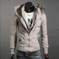 NEW Mens Korean Classic Fashion Multi Zipper Design Collar Jacket