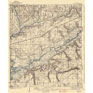 USGS TOPO MAP HAROLD QUAD FLORIDA (FL) 1938