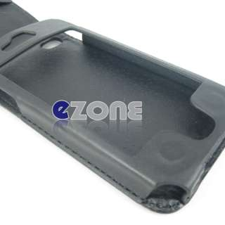 Black Wallet Flip Leather Case Pouch For iPhone 4 4G