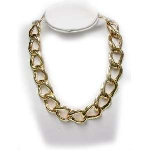 Gold Plated Fancy Link Necklace   Ladies Fashion Necklace
