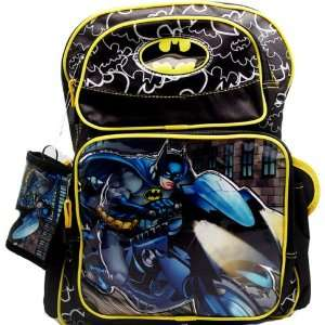 Licensed Batman Backpack Blue Large w/ Free Wallet: Toys & Games