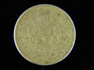 1864 1c. Indian Head AU Copper Nickel W/ Shield /A 602