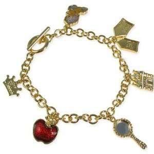 Disney Couture Snow White Storybook Charm Bracelet