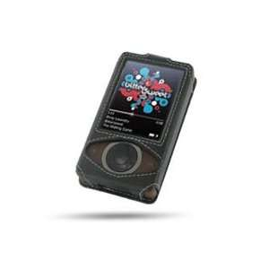 Microsoft Zune Leather Sleeve Case (Black) Cell Phones & Accessories