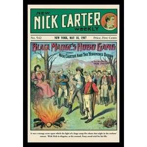 Nick Carter Black Madges Hobo Gang   Paper Poster (18.75