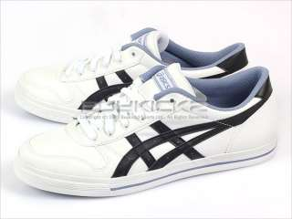 Asics Aaron White/Onyx Classic Low Leather Sneaker Mens 2011 H934Y