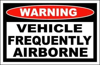 Vehicle Frequently Airborne 4x4 Sticker Sportsman ATV