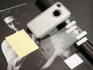 Luxury Bling Rhinestone Chrome Hard Case Cover For iPhone 4 4S Screen