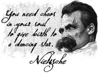 Friedrich Nietzsche Quote T Shirt Chaos Dancing Star