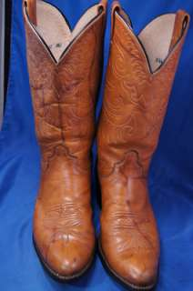 Olathe Brown Leather 8.5 C Mens Western Boots