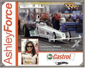 2005 ASHLEY FORCE A/FUEL DRAGSTER CASTROL/HOTWHEELS WITH SUNGLASSES