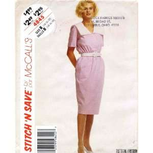 McCalls 4845 Sewing Pattern Womens V Neck Dress Size 14