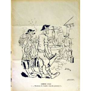 LE RIRE FRENCH HUMOR MAGAZINE WAR SOLDIERS WATER WELL