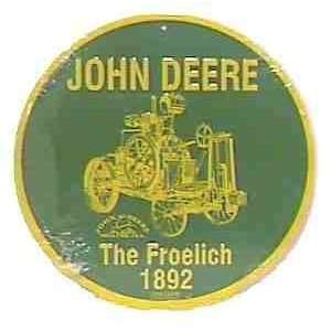 The Froelich 1892 John Deere Tin Sign JD CS60010: Home