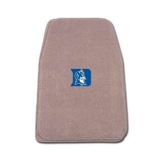 Universal Fit Front Two Piece Floormat with NCAA Duke Logo Automotive