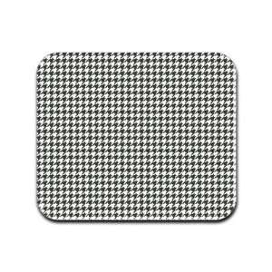 Houndstooth Pattern   White and Black Mousepad Mouse Pad