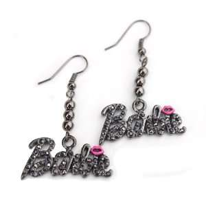 Black Ice Nicki Minaj Barbie French Hook Earrings with