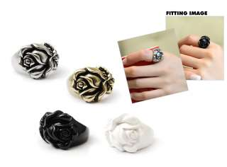 Korean] New Women Fashion Unique Embossed ROSE Ring