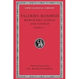 com Valerius Maximus Memorable Doings and Sayings, Volume II, Books