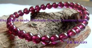 Small High Quality Natural Garnet Bracelet Round beads