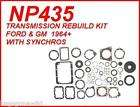 NP435 FORD & GM 4 SPEED TRANSMISSION REBUILD KIT WITH SYNCHROS 1964