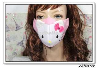 Bling Bowknot Decor Hello Kitty Anti Dust Mouth Face Nose Mask