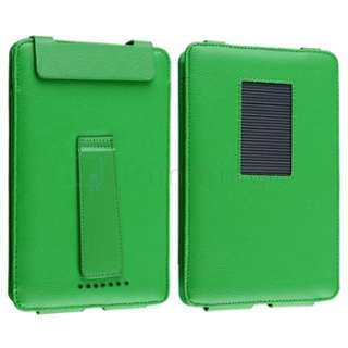 For Nook Tablet Premium Green Folio Leather Portable Case Cover Pouch