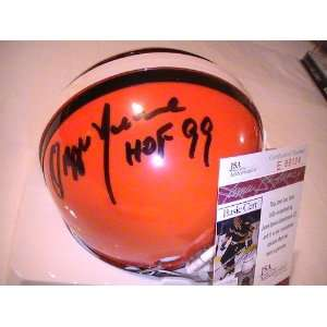 OZZIE NEWSOME SIGNED AUTOGRAPHED CLEVELAND BROWNS MINI