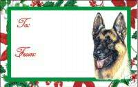 12 German Shepherd Dog Christmas Gift Tags