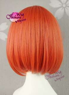 Prince sama Short Orange Mixed Pink Straight Cosplay Hair Wig